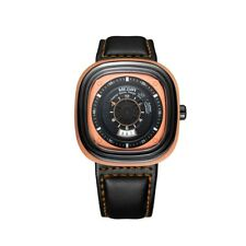 MEGIR Casual Men Waterproof Watch Square Dial Leather Band Quartz Wristwatch New