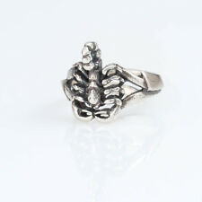 Scorpion Ring, sterling silver or silver-plated, handmade