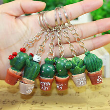 Cute Simulation Cactus Key Ring Key Chain Car Bag Hangbag Plant Pendant Gift CN