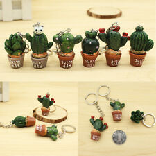 1/5PCS Simulation Cactus Key Ring Key Chain Car Bag Hangbag Plant Pendant Gift