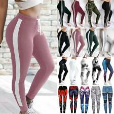 Women High Waist Sports Yoga Pants Print Fitness Gym Leggings Stretch Trousers P