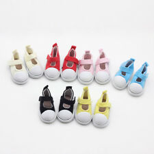 1 Pair 6*2.8cm Cute Canvas Sticker Flat Shoes For Doll Paola Reina Dolls Sneaker