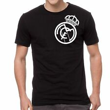 Real Madrid T shirt Tee Black Custom Camiseta Jersey Soccer Futbol Europa