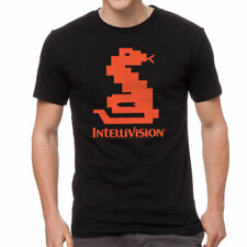 Intellivision Snake Classic Game Men's Black T-shirt NEW Sizes S-5XL