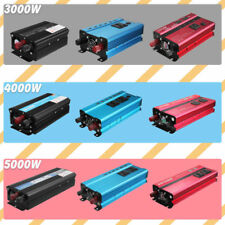 3000W 4000W 5000W LCD Car Power Inverter 24V To AC 220V Converter USB Charger x4