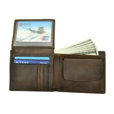 Cow Leather Men Wallets With Coin Pocket Vintage Purse Card Holders Check Video