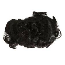 Hairpiece Comb Clip In Wave Curly Chignon Updo Cover Hair Extension Hair SS3