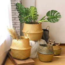 Seagrass Basket Belly Basket for Fiddle Leaf Home Decoration Plant Pot Cover BG