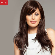 Long Human Hair Wigs Side Parting Long Hair Wigs Natural Straight Wig
