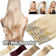 7 Pieces Women's Fashion Clip In Remy Human Hair Extensions Full Head US Sale R7