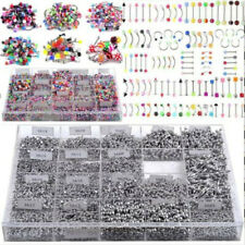 105PCS Wholesale Bulk lot Body Piercing Eyebrow Jewelry Belly Tongue Bar Ring CN