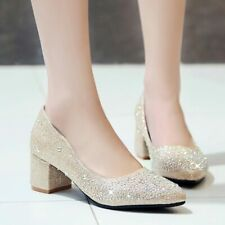 Women High Heels Pointed Toe Casual Slip-on Shallow Mouth Shoes