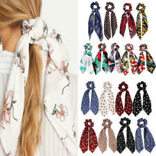 Popular Ponytail Scarf Bow Hair Rope Tie Scrunchies Ribbon Elastic Hair Bands