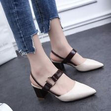 Office Style Women Sandals High-heeled Shallow Mouth Pointed Toe Pumps
