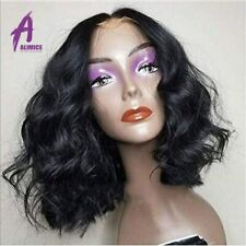 Body Wave Bob Wigs Lace Front Human Hair Wigs Preplucked Peruvian Hair For Women