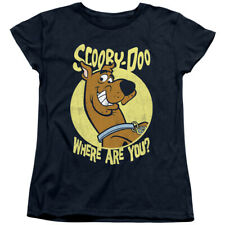 Scooby Doo Womens T-Shirt Where Are You Navy Tee