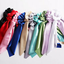 Rope Satin Bow Ponytail Ribbon Scarf Hair Scrunchies Tie Elastic Hair Attractive
