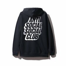 NIP Anti Social Social Club Blocked Logo Black Hoodie NWT DS Hooded Sweatshirt