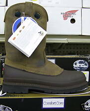 """Brand New - Men's 12"""" Georgia """"Mud Dog"""" Waterproof Brown Leather Pull On Boots"""