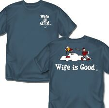 Wife is good Skiing- T-Shirt - Adult Sizes