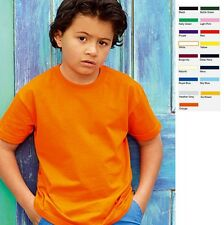 KINDER KIDS T-SHIRT FRUIT OF THE LOOM VALUE VALUEWEIGHT 16 FARBEN GRÖßE 104-164