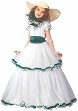 SOUTHERN BELLE Girl Costume Ball Gown Colonial Prairie