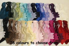 WEDDING/CRAVAT/RUCHE/TIE 28 colours made in the UK