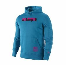 Nike FC Barcelona 2010 - 2011 Club Soccer Hooded Sweat Top Brand New Turquoise