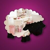 KIDDIE SAFE FUNKY MIRROR,ACRYLIC,SHEEP, old stockup to  50 % off