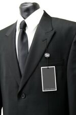 Sean John Mens Suit Poly Blend Black Tone On Tone SJ2
