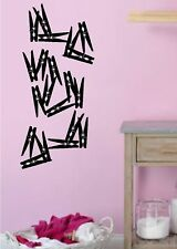 Clothespins set of 20 Laundry room Wall decals Sticky