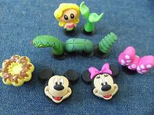 New 3D Mickey Minnie Donuts Shoe Charms Fit Jibbitz Crocs