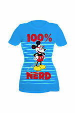 Disney Mickey Mouse 100% Nerd Girls T-Shirt