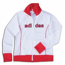 adidas Womens Mia 2009 Woven Soccer Track Jacket White / Red
