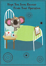 male / female after your operation card - get well soon cute / traditional
