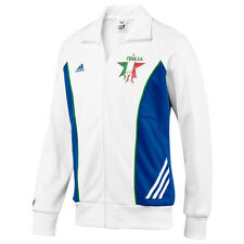adidas Italy Italia World Cup WC 2010 Style Soccer Track Jacket Brand New White