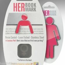 HIS or HER BOOKMARK Reading Book Page Mark Marker Gift