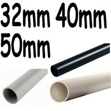 Solvent weld waste pipe 32/40/50mm white,black,grey