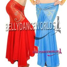 BELLY DANCE COSTUME MERMAID SKIRT GOLD/SILVER TRIM 17CL