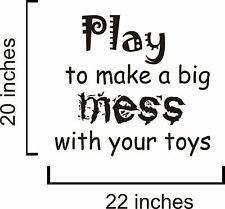 Play To Make Vinyl Wall Decal