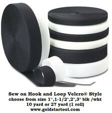 Sew on Hook and Loop Velcro® Style, choose color, size & quantity ships from USA
