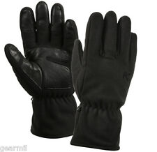 MICRO FLEECE ALL WEATHER GLOVES-Black 100% Polyester Fleece w/ Tricot Lining