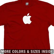 Steve Jobs Tribute T-Shirt Silhouette Inside Apple Logo RiP in Shadow Memorial