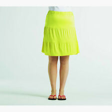 BNWT Ladies So Fabulous! Short, Tiered Cotton Summer Skirt YELLOW 18 20 22 24 30