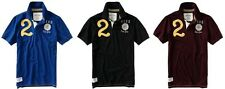Aeropostale men Athletic #2 Rugby JERSEY POLO T shirt  XS,S,M,L,XL,2XL NEW NWT