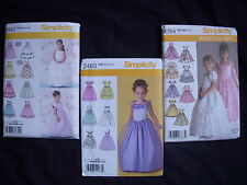 Sewing Patterns Pageant /Holiday/Party  Girl's  Dresses/Gowns Size  3 -6/ 5-8