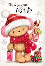 cute with love NANNIE christmas card - multi-listing