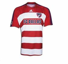 adidas FC Dallas MLS 2009 Soccer Home Jersey Brand New Red / Royal Blue / White
