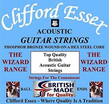GUITAR STRINGS. ACOUSTIC/ELECTRIC. THE WIZARD RANGE. HIGH QUALITY. TONE TESTED.