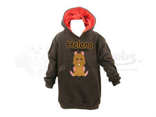 Buttercubs Personalised Childrens/Kids Hoodie-Hamster Design